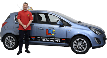 Daniel Woodward's driving school car